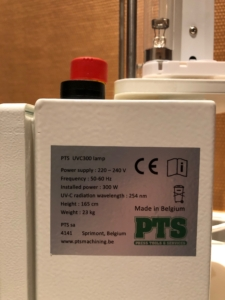Certification CE - Luminaire mobile avec lampe UVC