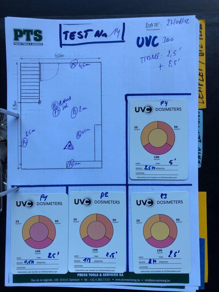 Tests lampes désinfection UVC